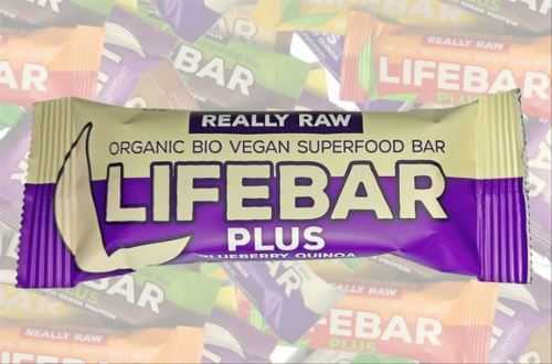 Blueberry Quinoa BIO, Lifebar Plus 47g