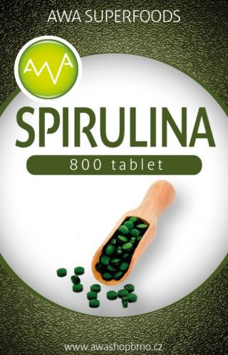 Spirulina, tablety 200 g, AWA superfoods