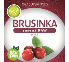 RAW brusinka sušená mletá, AWA Superfoods 100g