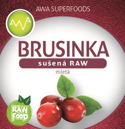 AWA superfoods sušená brusinka mletá RAW 100g